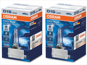NEW! D1S OSRAM COOL BLUE ADVANCE 66140 CBA 6000K HID XENON HEADLIGHT BULBS