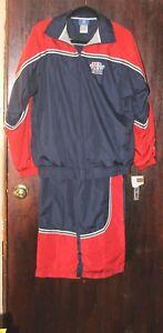 NWT Super Bowl XL 40 Detroit Blue Red Warm-up Jacket Pants Yth XL 18-20 Reebok