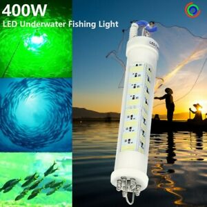 Ocean Deep Underwater 5M Cable White Green Blue DC12V 400W LED Fishing Lights