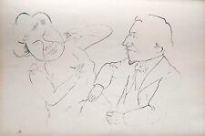 Lithography original - George Grosz - Ecce Homo - Plauderstunde - 1923