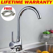 Modern Kitchen Sink Mixer Taps Swivel Spout Single Handle Monobloc Chrome Faucet