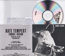 KATE TEMPEST TUNNEL VISION RARE 2 TRACK PROMO CD