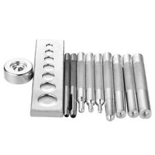 Set of 11 Die Punch Tool Snap Rivet Setter Base Kits For DIY Leather Craft Tools