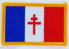 PATCH ECUSSON BRODE DRAPEAU FRANCE LIBRE CROIX DE LORRAINE  INSIGNE NEUF FLAG