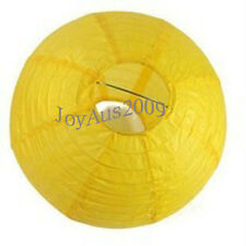 6x 20cm yellow paper lanterns engagement wedding party shower home decoration