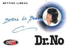 "James Bond Heroes & Villains - A156 Bettine LeBeau ""Secretary"" Autograph Card"