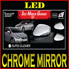 LED Chrome Side Mirror Cover For 2011 2016 Hyundai Elantra Accent