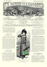 PATRON COUTURE ANCIEN : LA MODE ILLUSTREE, n°7/1889, Modèles dans l'annonce