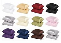2pc Brand New Queen / Standard Size Silk~y Satin Pillow Case Multiple Colors