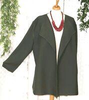 KARIN GLASMACHER Damen Strickjacke Gr. 2 46 48 50 52  Khaki Grün Muster Streifen