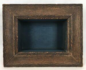 Antique Early 20th C Arts & Crafts Oak Deep Shadow Box Frame Wall Display