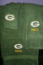 Packers Football Personalized 3 Piece Bath Towel Set Your Team & Color Choice