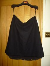 ARIA Ladies Black Mix Lined Skirt with Lace Size 16 - VGC