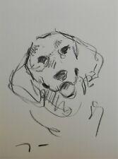 JOSE TRUJILLO Original Charcoal - Paper Sketch Drawing 9X12 Puppy Portrait Dog