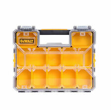 Dewalt Portable Small Parts Organizer 10 Compartment Bins Tool Box Storage Case