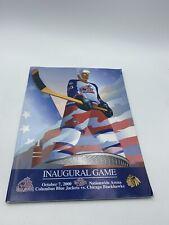 Inaugural Game Columbus Blue Jackets Oct 2000 Vs Chicago Blackhawks