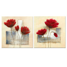 Painting Pictures Canvas Print Abstract Flowers Home Decor Wall Art Framed