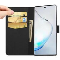 Samsung Galaxy Note 10 / Plus / 5G Leather Wallet Case Card Holder Flip Cover