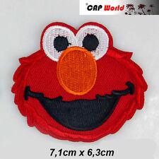 Elmo Krümel Monster PATCH  Aufbügler Aufnäher Abzeichen Bügelbild Sesamstrasse