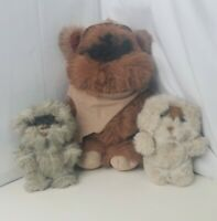 VTG Wicket Ewok Star Wars Return of the Jedi Plush d Kenner Toy 1983 Lot Of 3