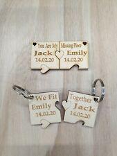 Personalised Valentines Keyring Jigsaw Puzzle Wedding Anniversary Keepsake etc