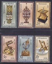 Germany DDR 2343-48 MNH 1986 Sand Glasses and Sundials Full Set Very Fine