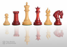 "The Salerno Luxury Chess Set - Pieces Only - 4.4"" King - Blood Rosewood"
