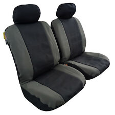 New Front Pair Waterproof Neoprene Car Seat Cover Universal Size Grey Black