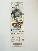 2012 San Diego Chargers Tennessee Titans NFL Football Full Ticket Stub