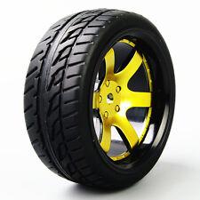 RC 4Pcs Tires&Wheel 12mm Hex D6NKG For HSP HPI 1:10 On-Road Racing Model Car