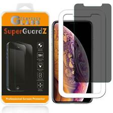 Privacy Anti-Spy Tempered Glass Screen Protector Guard For iPhone XS / X + Tray