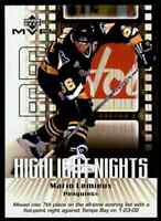 2002-03 Upper Deck MVP Highlight Nights Mario Lemieux . #HN6