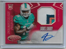 2014 14 PANINI LEAF CERTIFIED JARVIS LANDRY MIRROR RED AUTO 4 COLOR PATCH /249