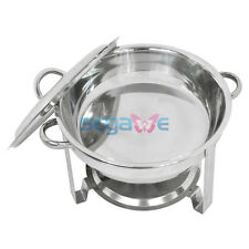 Used 5 Qt Stainless Steel Round Chafing Dish Chafer Buffet Warm Tray Set