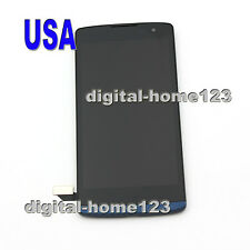 For LG LS665 Tribute 2 Hot Sale LCD Display Screen Touch Digitizer Frame Blue