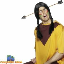 Arrow Through Head Halloween Red Indian Joke Mens Fancy Dress Accessory