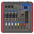 MICWL 5 Channel Power Audio Mixer Mixing Console 1600W Amplifier DSP Bluetooth
