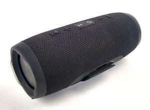 JBL Charge 3 Wireless Bluetooth Waterproof Speaker Black - TESTED & WORKING