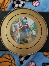 Antique Oval Chimmney Flue Cover, Roman/Grecian Woman Scene