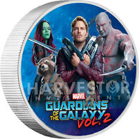 2017 MARVEL GUARDIANS OF THE GALAXY - 1 KILO SILVER COIN - FULL COLOR - ONLY 50