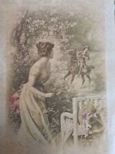 Rice paper for decoupage vintage lady