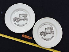 LOT 2 ASSIETTES PUBLICITE ESSO - VOITURE CITROEN