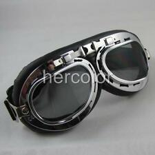 WWII Style Helmet Steampunk Driving Goggles Glasses
