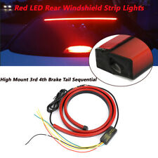 1x High Mount 3rd 4th Brake Tail Sequential Red LED Rear Windshield Strip Light