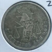 1872 Zs H Mexico 50 Centavos - Zacatecas Mint