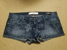NWT Abercrombie & Fitch Denim Low Rise Short Shorts Size 10 W30