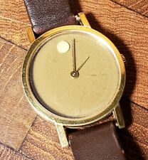 Vintage Ladies 1970's Movado Museum Gold Electroplate Manual Wind Watch - Zenith