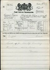 GB OHMS QUEEN VICTORIA TELEGRAM MASTER OF THE HORSE BUCKINGHAM PALACE 1899