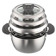 Beste Tefal Ovation Topfset 6-teilig Stapelfähig Induktionsgeeignet Küche SET