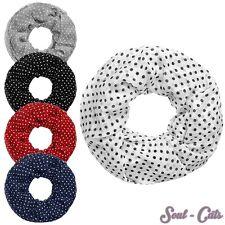 Loopschal mit Punkten Halstuch Schal Rockabilly